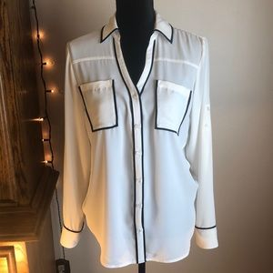 2 for $20 sz Medium EXPRESS portofino blouse